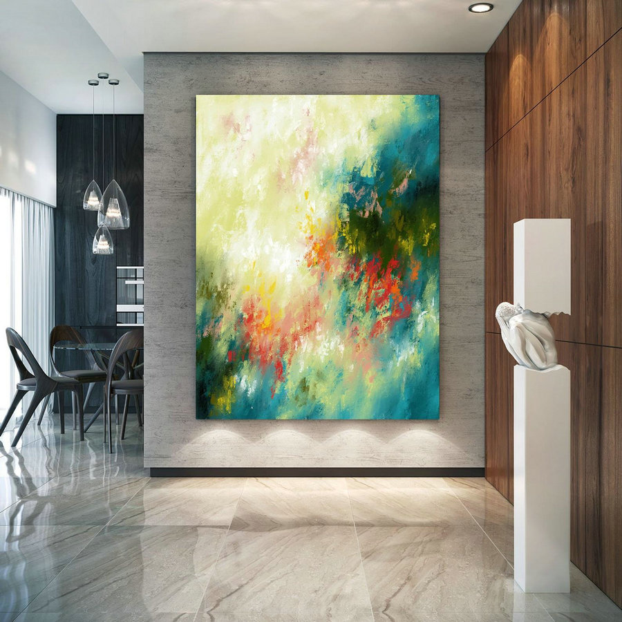Extra Large Wall Art Palette Knife Artwork Original Painting,Painting On Canvas Modern Wall Decor Contemporary Art, Abstract Painting Pic081,Large Canvas Contemporary Paintings
