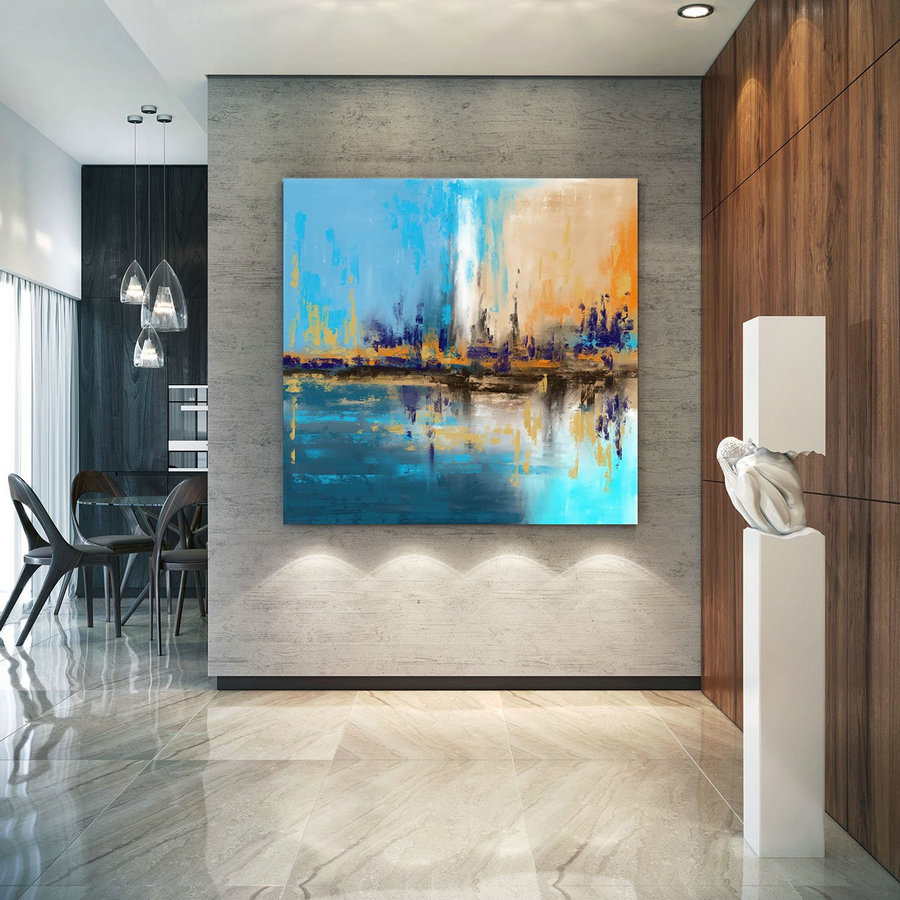 Extra Large Wall Art Palette Knife Artwork Original Painting,Painting On Canvas Modern Wall Decor Contemporary Art, Abstract Painting Pic037,Where To Buy Large Canvas Art