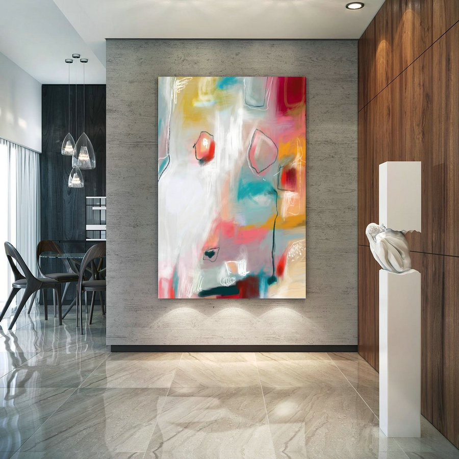 Abstract Canvas Original Paintings Abstract Paintings Wall Art For Luxury Interiors Living Room Decor Huge Size Art, Office Wall Art Pac155,Online Canvas Photo Printing