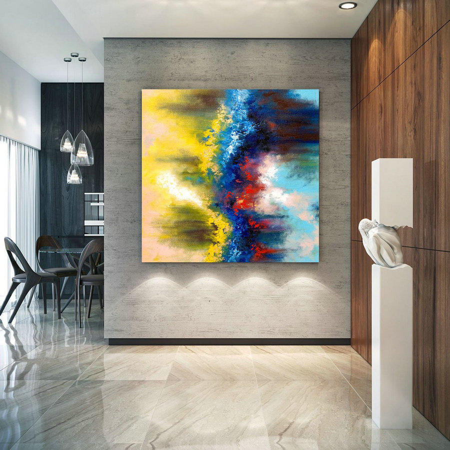Extra Large Wall Art On Canvas, Original Abstract Paintings , Contemporary Art, Mdoern Living Room Decor ,Office Oversize Artworks Lac641,Large Wall Art Canada
