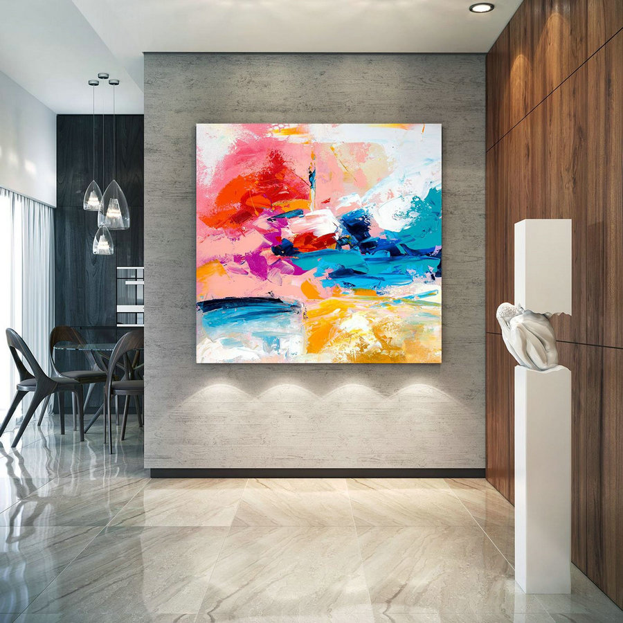 Extra Large Wall Art On Canvas, Original Abstract Paintings , Contemporary Art, Mdoern Living Room Decor ,Office Oversize Artworks Lac666,Large Photographic Art