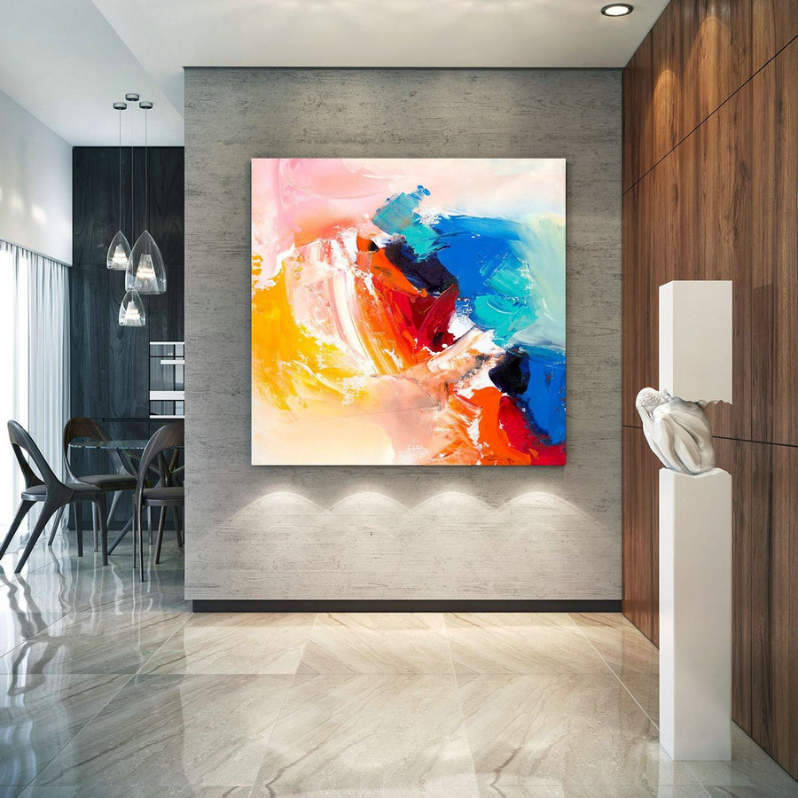 Large Abstract Painting, Original Canvas Art, Contemporary Wall Art, Modern Artwork, Office Wall Art, Extra Large Canvas Colorful Lac702,Large Canvas Art Sets