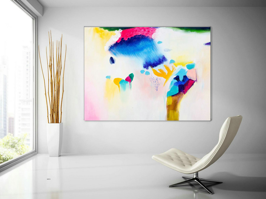 Extra Large Wall Art Original Handpainted Contemporary Xl Abstract Painting Horizontal Vertical Huge Size Art Bright And Colorful Lac714,Artist Painting On Canvas