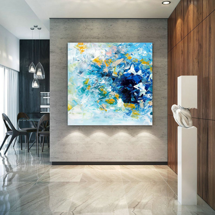 Large Abstract Painting, Original Canvas Art, Contemporary Wall Art, Modern Artwork, Office Wall Art, Extra Large Canvas Colorful Lac698,Large Canvas Photography