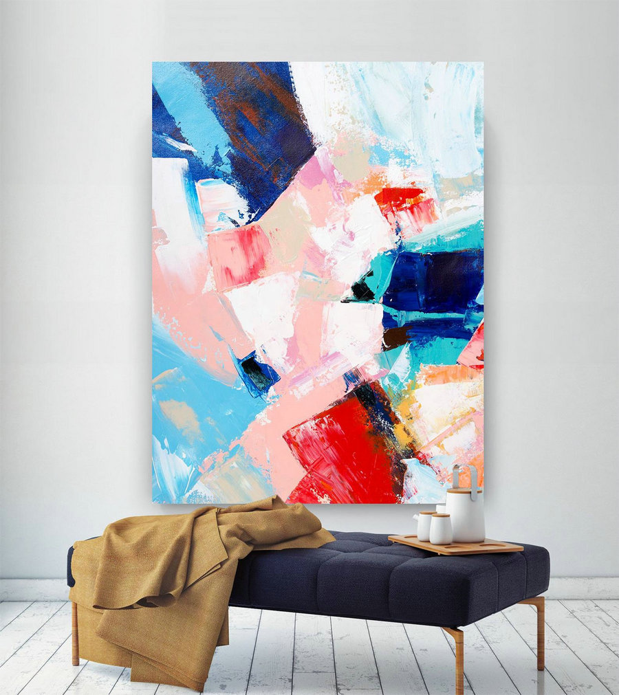 Extra Large Wall Art On Canvas, Original Abstract Paintings , Contemporary Art, Mdoern Living Room Decor ,Office Oversize Artworks Lac634,Large Decorative Paintings