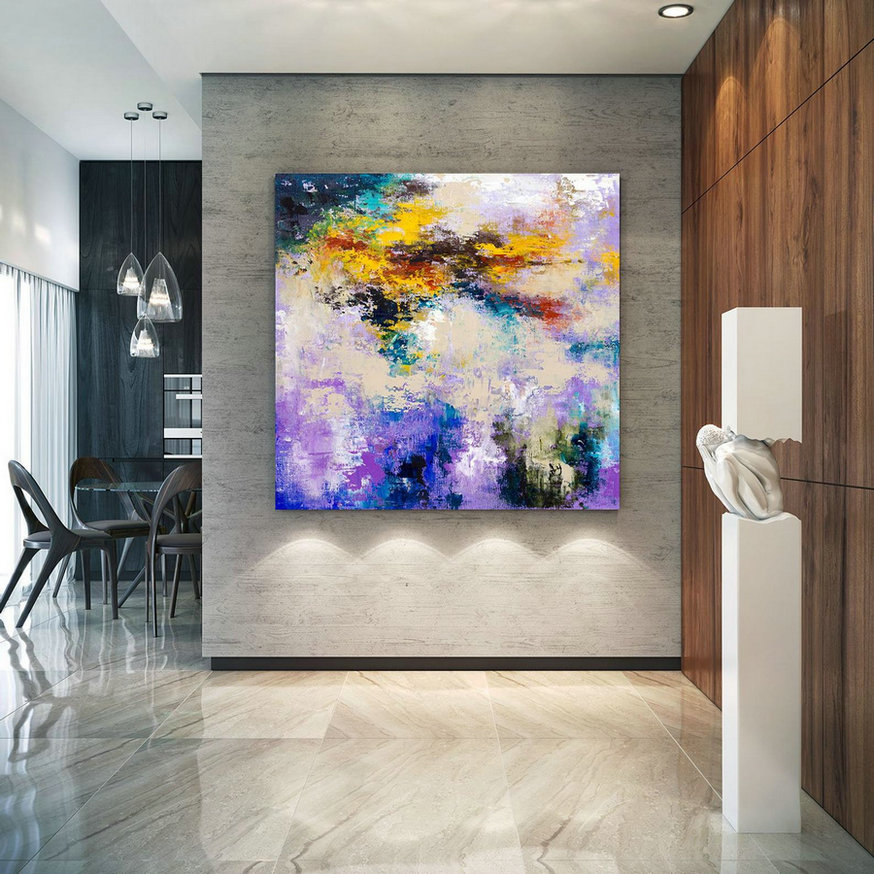 Large Abstract Painting, Original Canvas Art, Contemporary Wall Art, Modern Artwork, Office Wall Art, Extra Large Canvas Colorful Lac696,Abstract Canvas For Sale