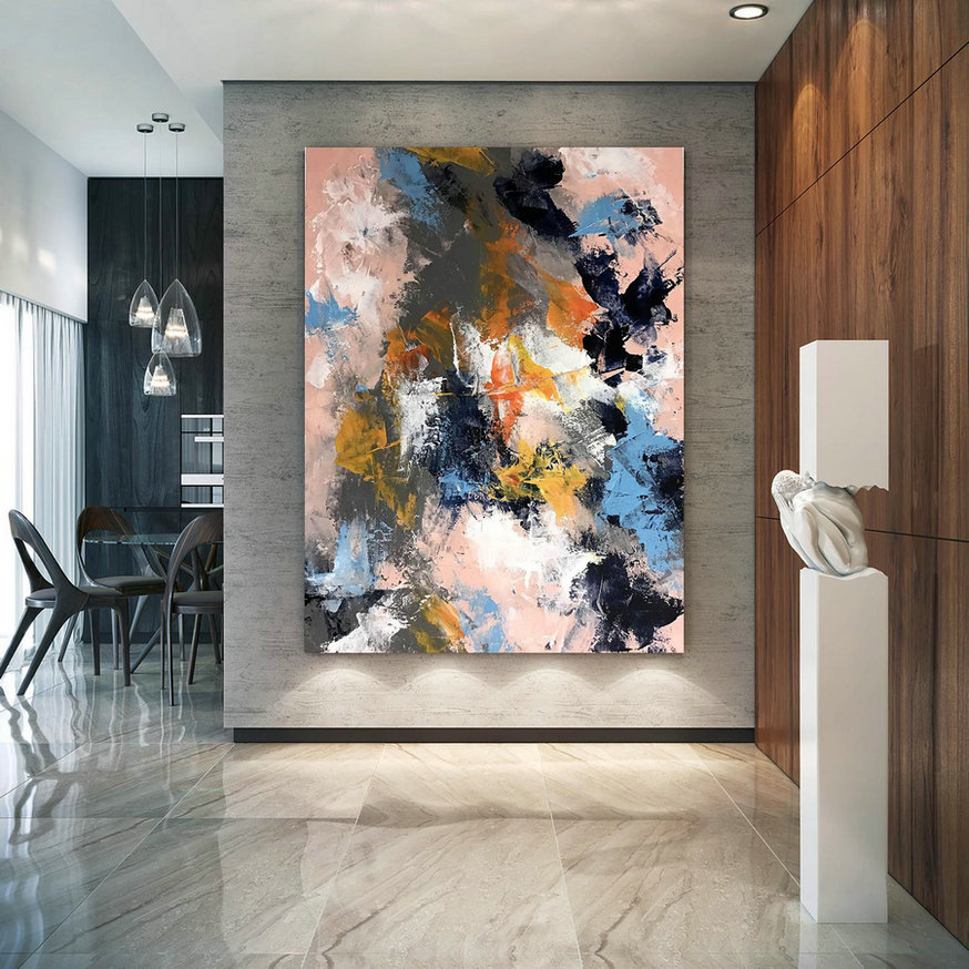 Original Abstract Canvas Art,Large Abstract Canvas Art,Oil Abstract Canvas,Home Decor Modern,Original Abstract Dic044,Large Oil Canvas Art