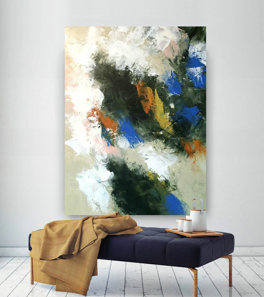 Large Abstract Painting,Modern Abstract Painting,Painting Wall Art,Bedroom Wall Art,Abstract Decor,Acrylic Textured Art Dic042,Large Art Pieces