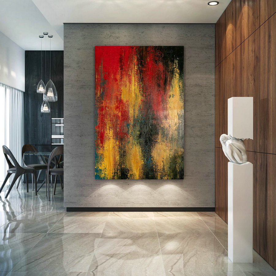 Large Abstract Painting,Square Painting,Oil Large Painting,Original Abstract,Modern Textured Dic021,Cheap Giant Canvas