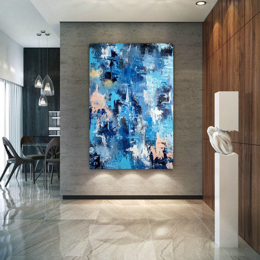 Large Abstract Painting,Original Painting,Large Interior Art,Modern Abstract,Original Textured Dic005,Oversized Portrait Art