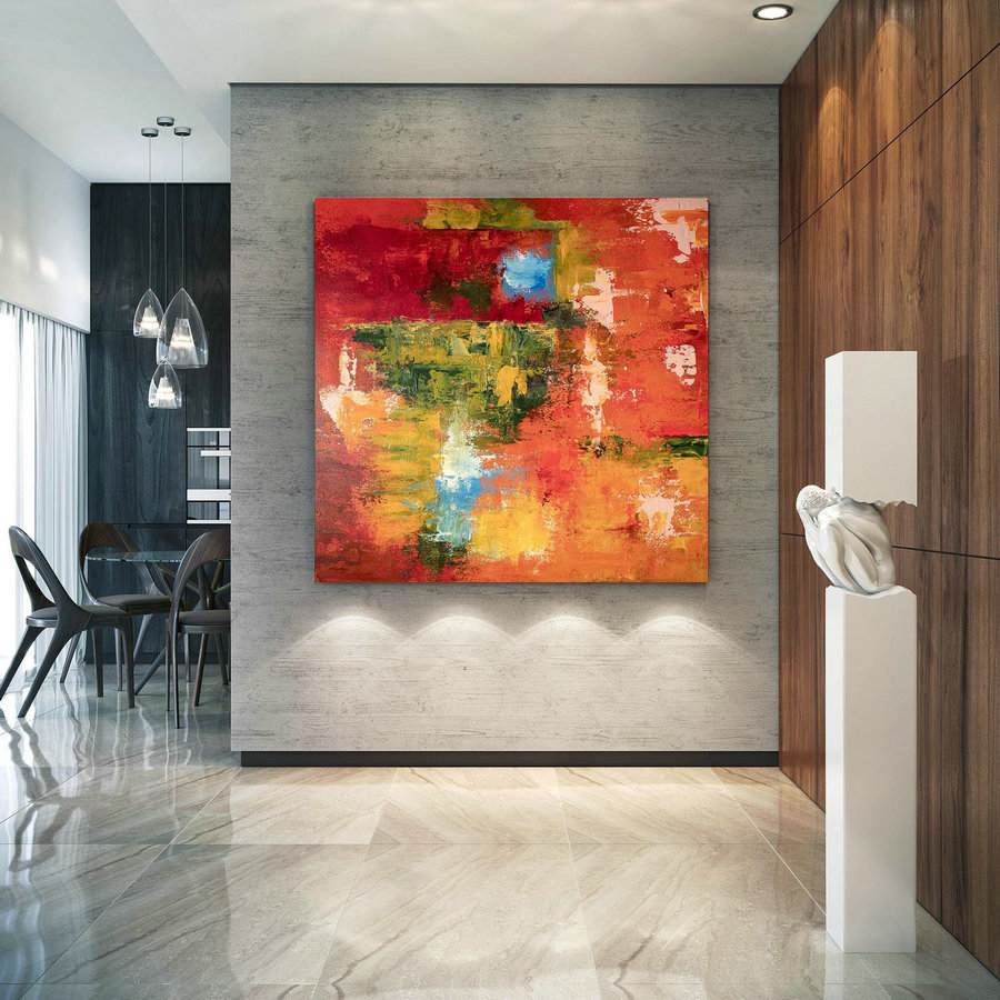 Large Abstract Painting,Modern Abstract Painting,Texture Painting,Modern Oil Canvas,Colorful Abstract,Textured Paintings Dic003,Oversized Canvas For Painting