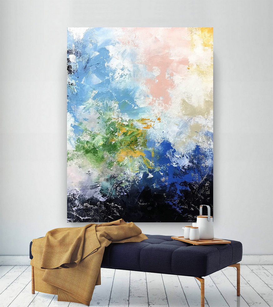 Large Abstract Painting,Large Abstract Painting On Canvas,Acrylics Paintings,Abstract Painting,Oil Knife Painting Bnc081,Xlarge Canvas