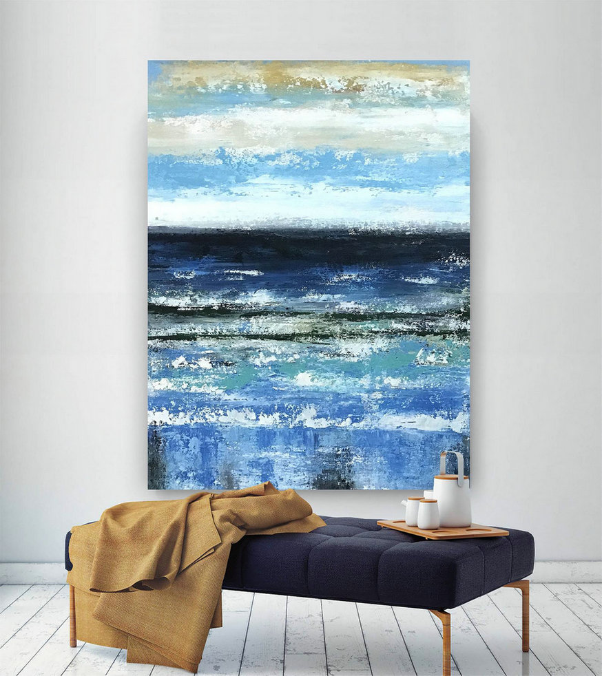 Large Abstract Painting,Large Abstract Painting On Canvas,Painting Home Decor,Modern Abstract,Oil Canvas Art Bnc109,Large Wall Photo Canvas
