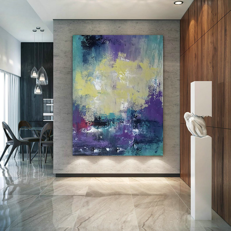 Large Abstract Painting,Modern Abstract Painting,Painting Colorful,Palette Knife Canvas,Original Abstract,Textured Painting Dic036,Oversized Pictures