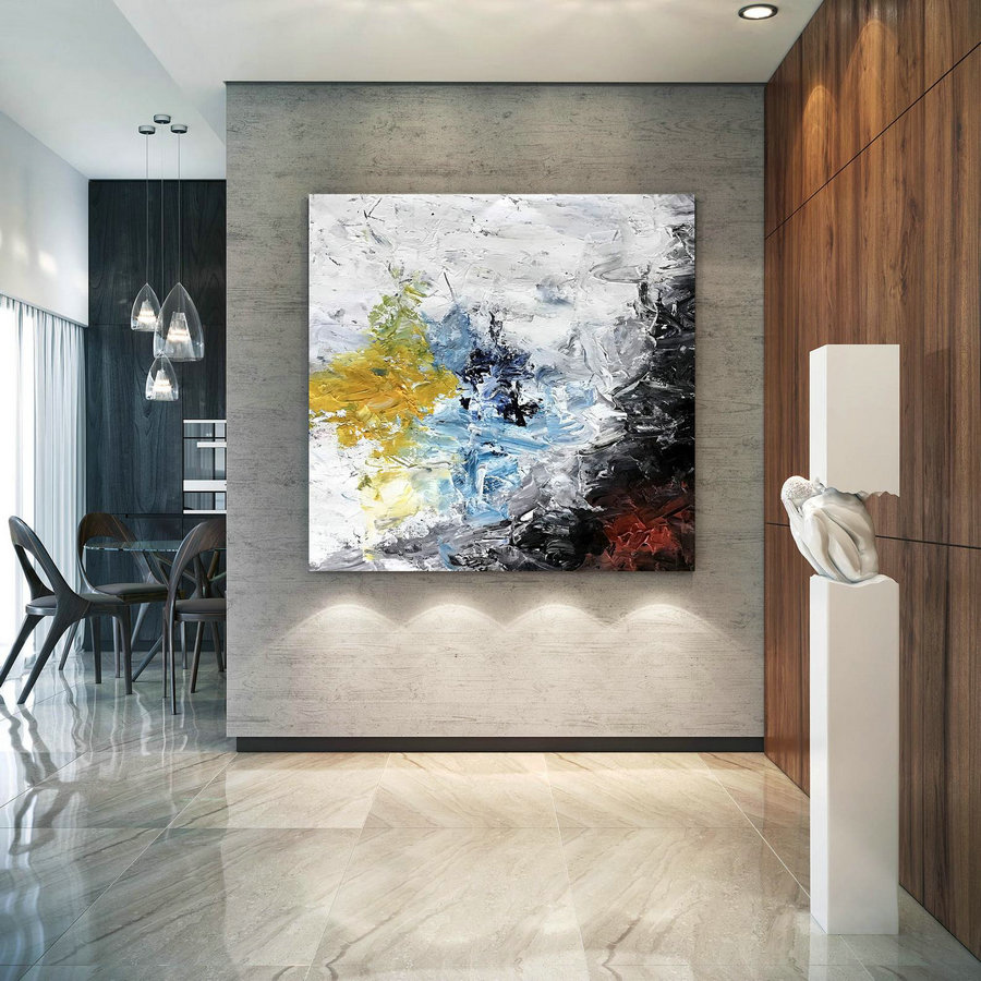 Large Abstract Painting On Canvas,Large Painting On Canvas,Acrylics Paintings,Large Art On Canvas,Industrial Decor Dic031,Big Wall Canvas