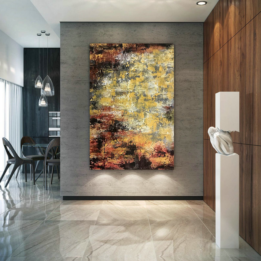 Large Modern Wall Art Painting,Large Abstract Wall Art,Oil Hand Painting,Xl Abstract Painting,Large Wall Art Decor D2C032,Oversized Wall Art Panels