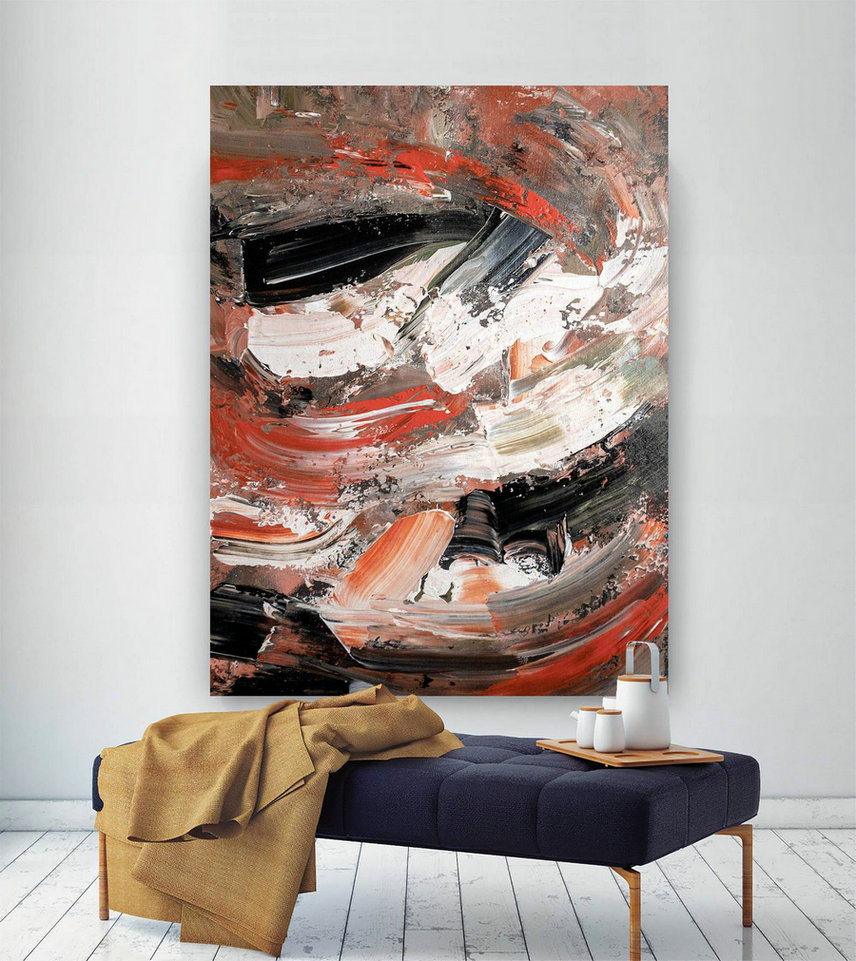 Large Abstract Painting,Modern Abstract Painting,Painting Home Decor,Home And Decor,Colorful Abstract,Acrylic Textured Art Dic018,Biggest Canvas