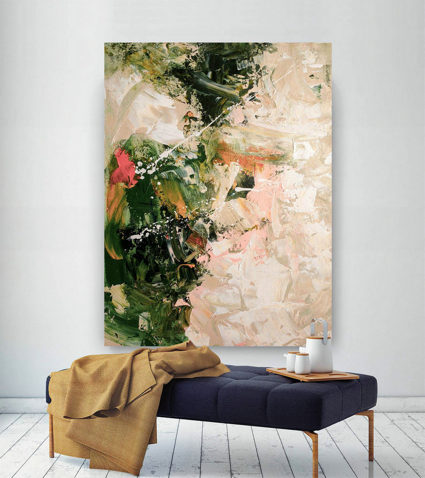 Large Painting On Canvas,Extra Large Painting On Canvas,Large Art On Canvas,Square Painting,Large Modern Canvas Dic017,Oversized Canvas Oil Paintings