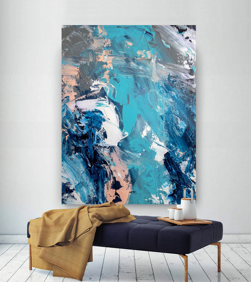 Large Abstract Painting,Modern Abstract Painting,Huge Canvas Painting,Office Decor Set,Abstract Decor,Textures Painting Dic010,Great Canvas Art