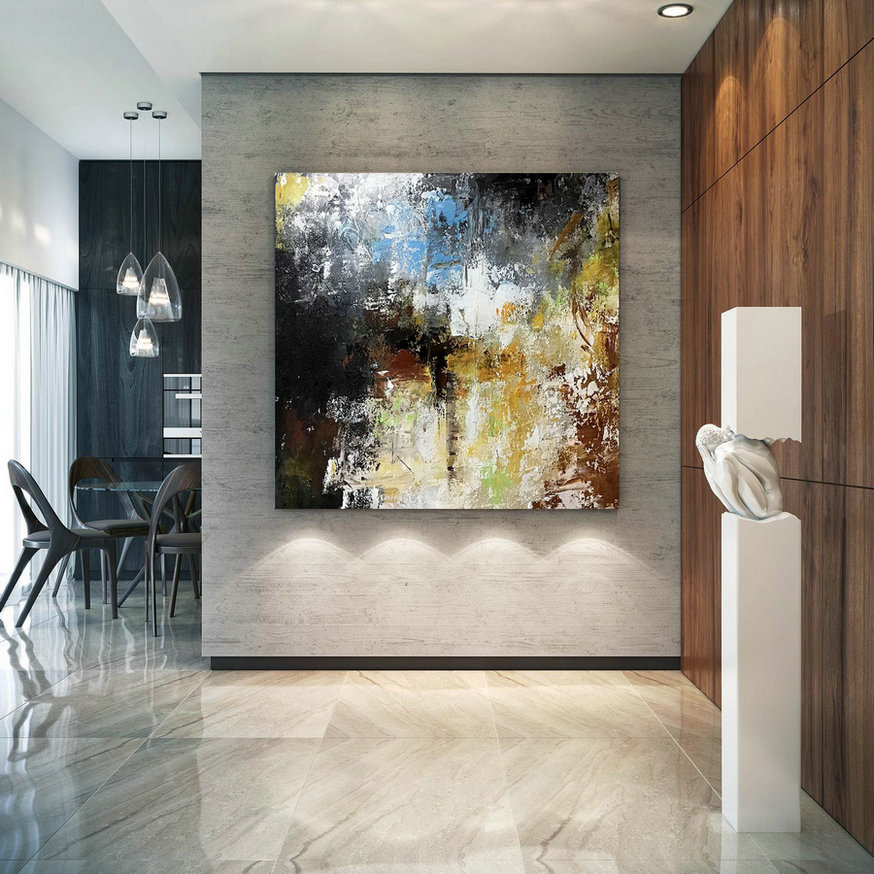 Large Abstract Painting,Texture Painting,Large Office Art,Acrylic Abstract,Large Textured Art Bnc090,Modern Art Wall Canvas