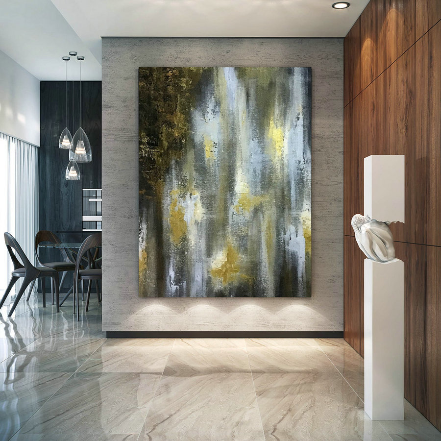 Large Abstract Painting,Original Painting,Large Interior Art,Modern Abstract,Original Textured D2C005,Extra Large White Canvas - Click Image to Close