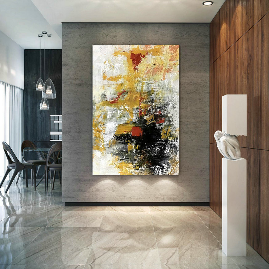 Large Modern Wall Art Painting,Large Abstract Wall Art,Bright Painting Art,Large Abstract Art,Large Wall Art Decor Bn0072,Cheap Wall Canvas