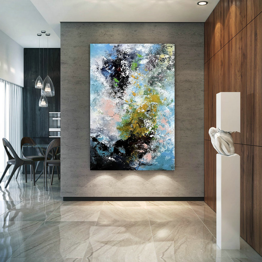 Large Modern Wall Art Painting,Extra Large Wall Art,Large Acrylic Canvas,Oil Hand Painting,Large Wall Art Decor Bnc068,Big Abstract Canvas
