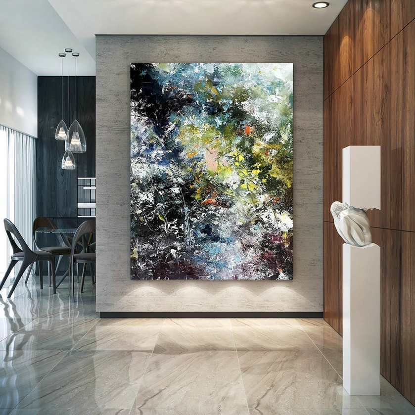 Large Painting On Canvas,Extra Large Painting On Canvas,Texture Painting,Painting Canvas Art,Large Interior Decor Bnc067,Cheap Large Canvas Pictures