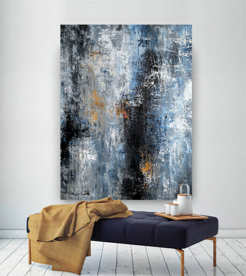 Original Extra Large Wall Art,Original Abstract Wall Art,Canvas Art Original,Painting For Home,Home Decor Wall Art Bnc033,Big Canvas Frame