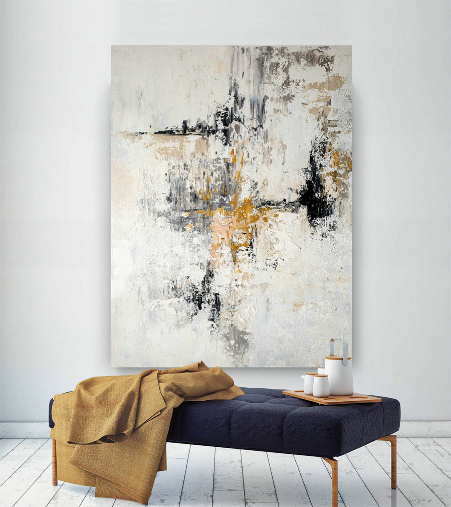 Large Modern Wall Art Painting,Large Abstract Wall Art,Painting For Home,Colorful Abstract,Bedroom Wall Art,Acrylic Textured Bnc029,Modern Canvas