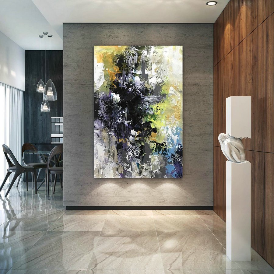 Original Abstract Canvas Art,Large Abstract Canvas Art,Modern Oil Canvas,Acrylics Paintings,Colorful Abstract Bnc084,Canvas Art Gallery