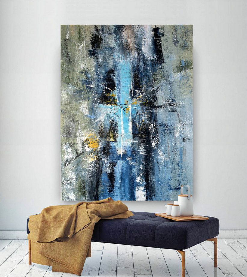 Large Painting On Canvas,Original Painting On Canvas,Huge Canvas Art,Oil Canvas Art,Oil Hand Painting,Modern Textured Bnc065,Wholesale Canvas Art