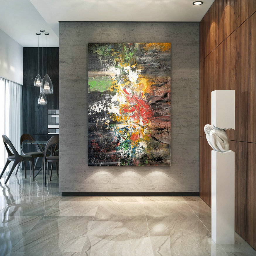 Large Modern Wall Art Painting,Large Abstract Wall Art,Painting Colorful,Modern Abstract,Canvas Wall Art,Modern Textured Art Bnc040,Where Can I Buy Large Canvas