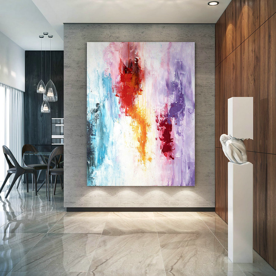 Large Modern Wall Art Painting,Large Abstract Wall Art,Painting Colorful,Xl Abstract Painting,Bedroom Wall Art Bnc007,Extra Large Canvas Pictures