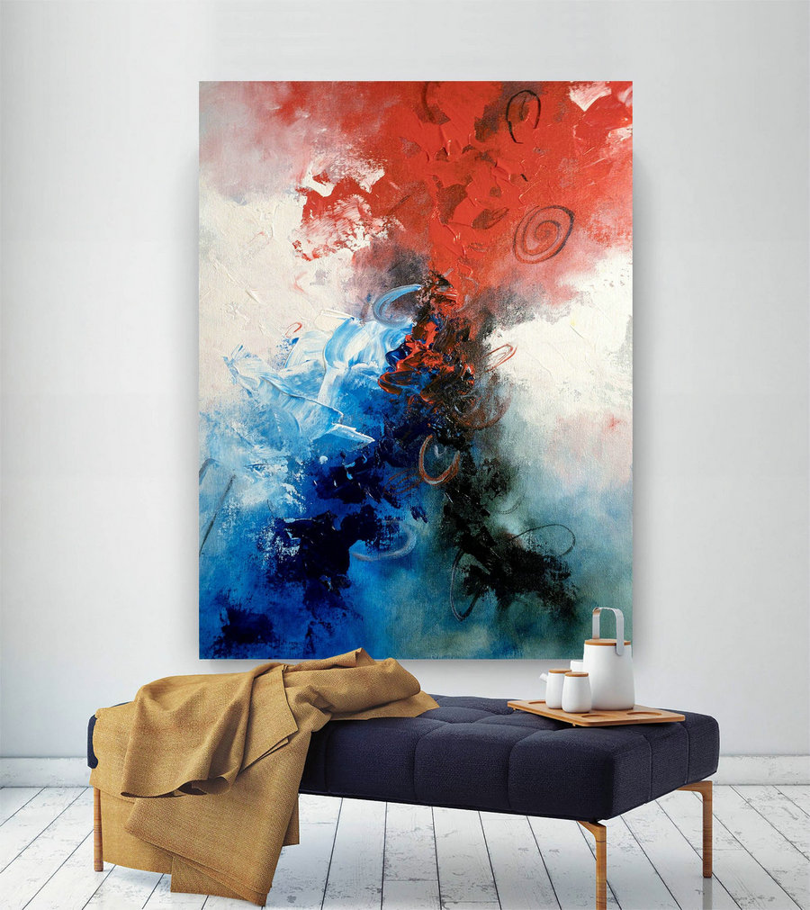 Large Abstract Painting,Modern Abstract Painting,Painting Colorful,Abstract Canvas Art,Colorful Abstract,Textured Wall Decor Bnc005,Cheap Art Canvas