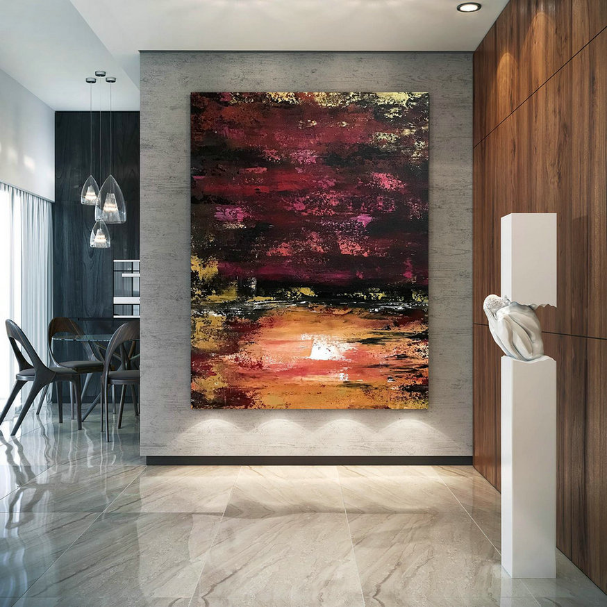 Large Abstract Painting,Modern Abstract Painting,Painting For Home,Huge Canvas Art,Xl Abstract Painting,Textured Paintings B2C006,Inexpensive Large Canvas Wall Art