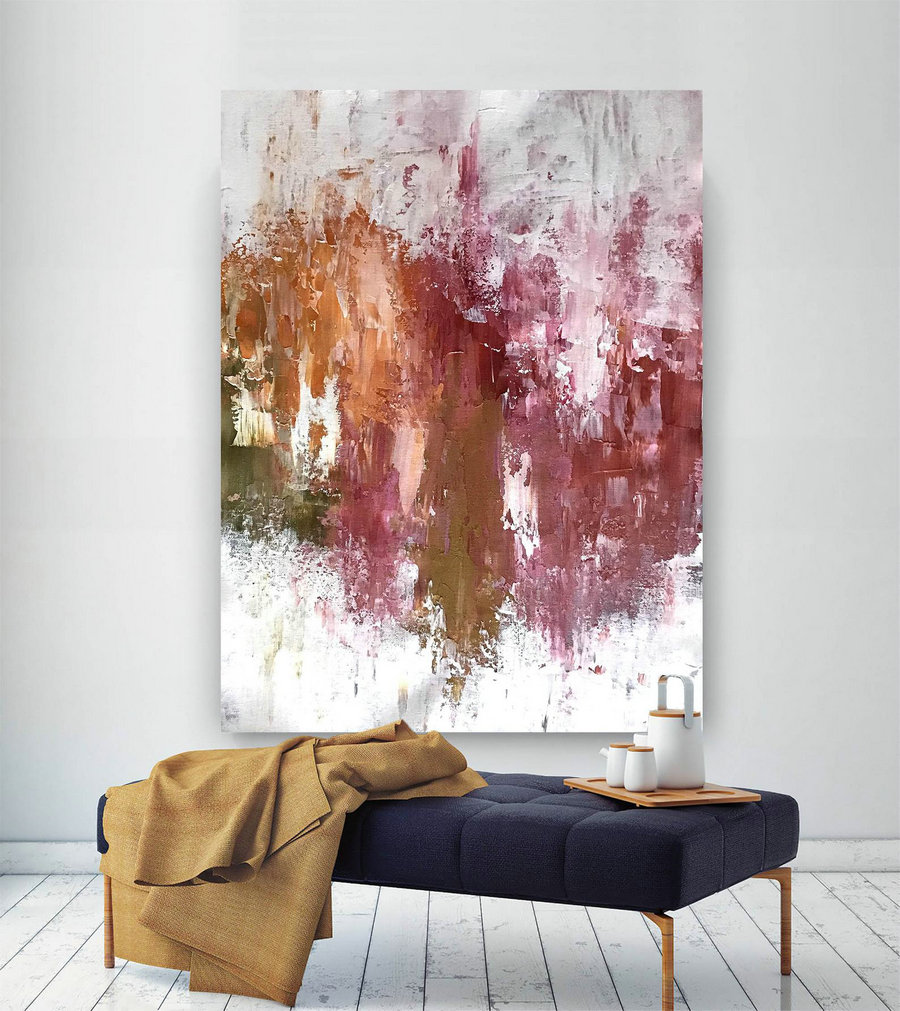 Large Abstract Canvas Art,Extra Large Abstract Canvas Art,Colorful Abstract,Huge Canvas Art,Large Interior Art B2C004,Oversized Wall Art Decor