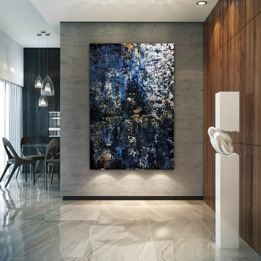 Large Abstract Painting,Modern Abstract Painting,Painting For Home,Bathroom Wall Art,Modern Abstract,Acrylic Textured Art B2C015,Cheap Modern Canvas Wall Art
