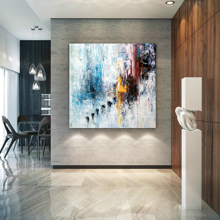 Large Modern Wall Art Painting,Large Abstract Painting On Canvas,Unique Painting Art,Painting On Canvas,Canvas Wall Art Bnc022,Large Colourful Paintings