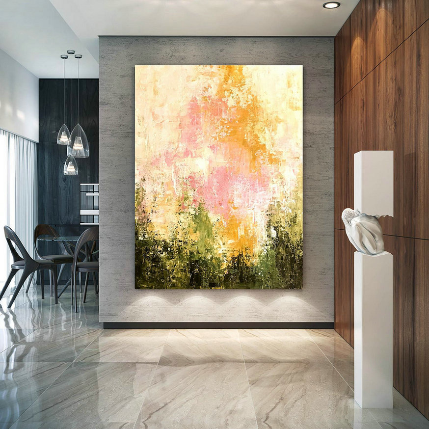 Large Painting On Canvas,Extra Large Painting On Canvas,Large Canvas Art,Huge Canvas Painting,Oil Large Painting D2C011,Long Horizontal Canvas Art