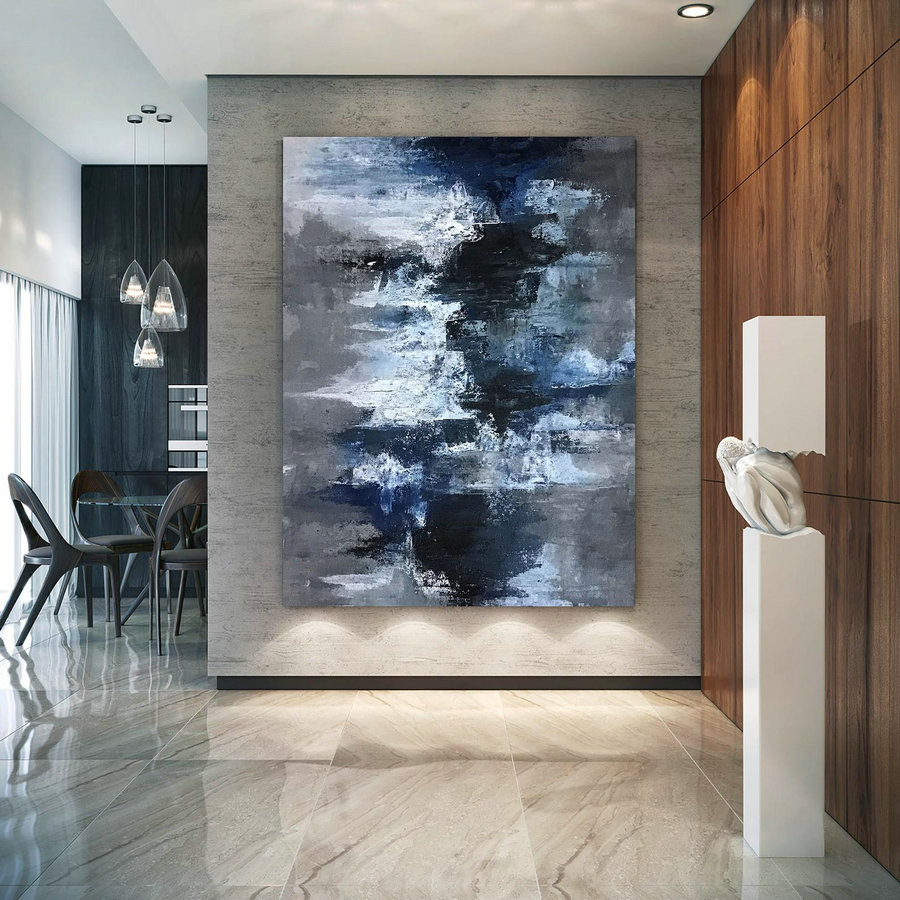 Large Modern Wall Art Painting,Modern Abstract Wall Art,Modern Decor,Acrylics Paintings,Living Room Wall Art Dic062,Oversized Landscape Art