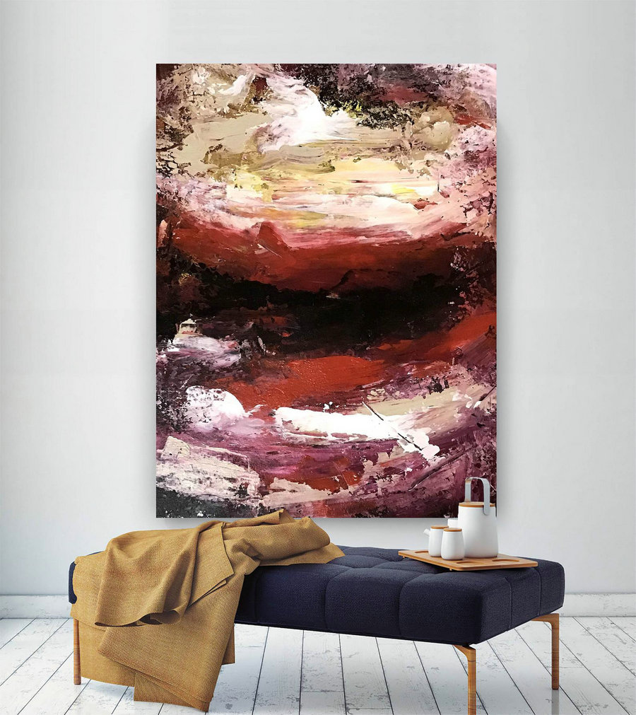 Large Painting On Canvas,Extra Large Painting On Canvas,Art Paintings,Large Interior Decor,Large Canvas Art,Textures Painting Dic060,3 Panel Canvas Art
