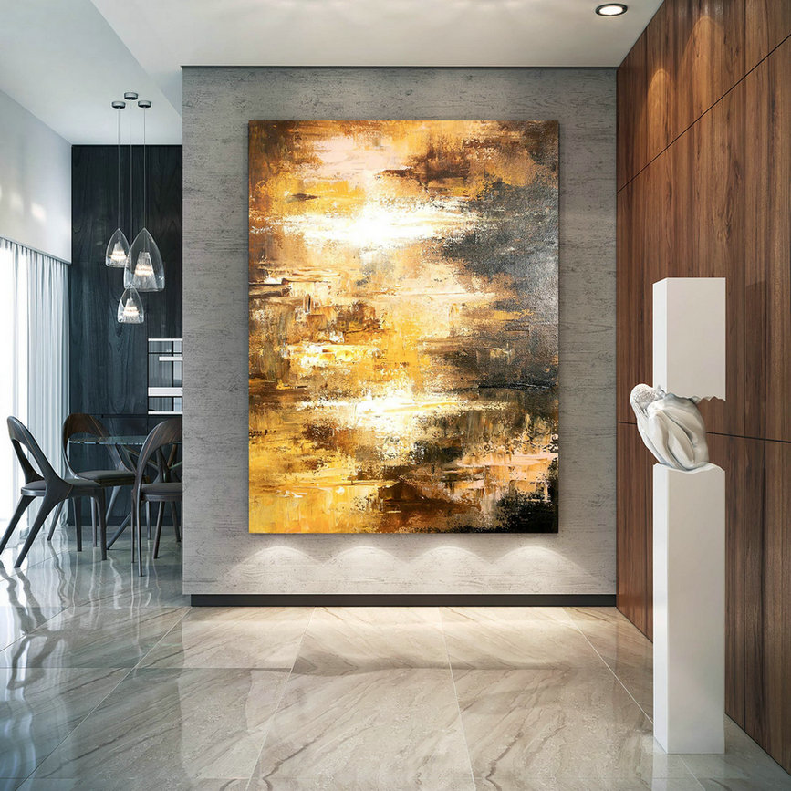 Large Abstract Painting,Modern Abstract Painting,Painting Home Decor,Gold Canvas Painting,Colorful Abstract,Abstract Texture Art Dic028,Where Can I Buy Canvas Paintings