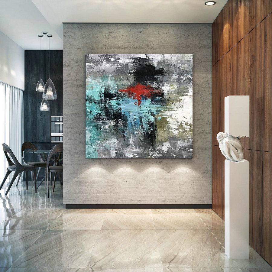 Large Original Abstract Painting - Modern Art, Living Room Decor, Paintings On Canvas, Wall Art, Original Painting,Office Decor D2C034,Cheap Big Artwork