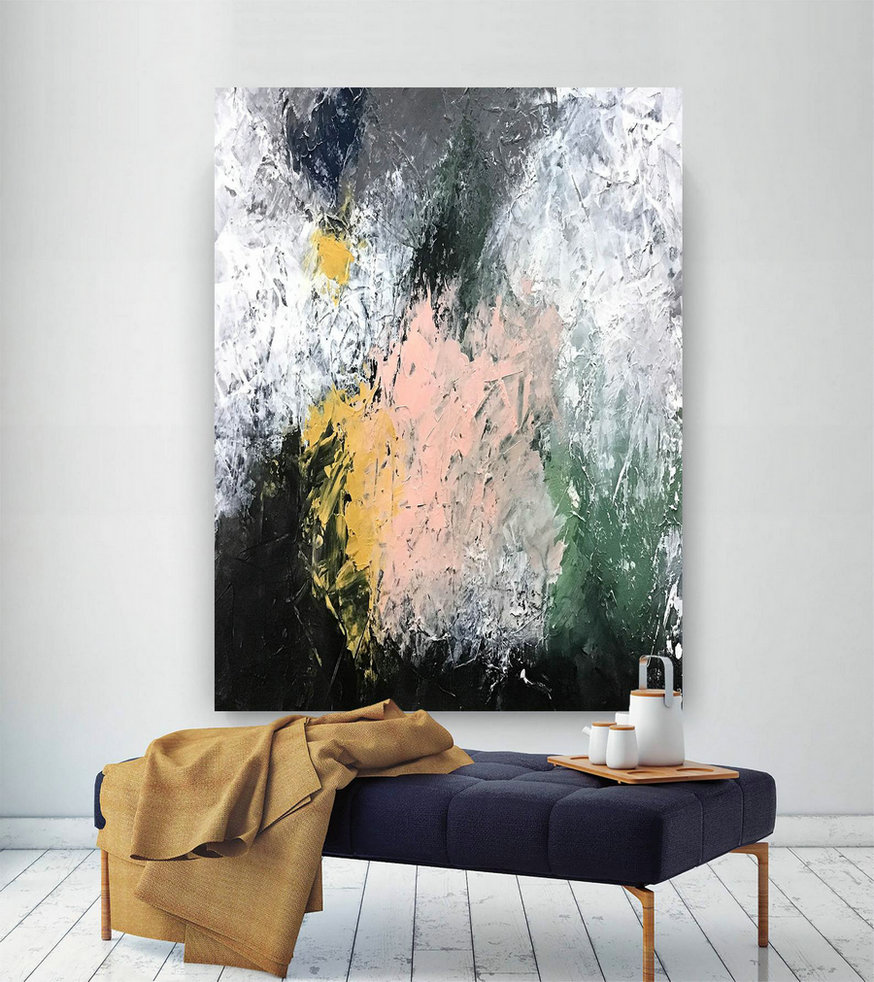 Large Abstract Painting,Square Painting,Oil Large Painting,Original Abstract,Modern Textured D2C021,Living Room Large Wall Art
