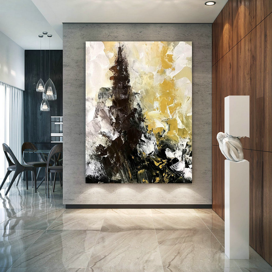 Original Abstract Canvas Art,Large Abstract Canvas Art,Unique Bedroom Decor,Abstract Decor,Modern Wall Canvas D2C019,Canvas Paintings Canada