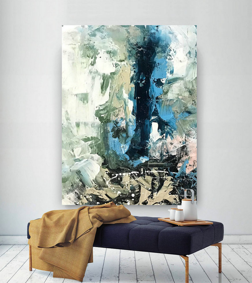 Large Painting On Canvas,Extra Large Painting On Canvas,Large Art On Canvas,Square Painting,Large Modern Canvas D2C017,Large Canvas Art Framed