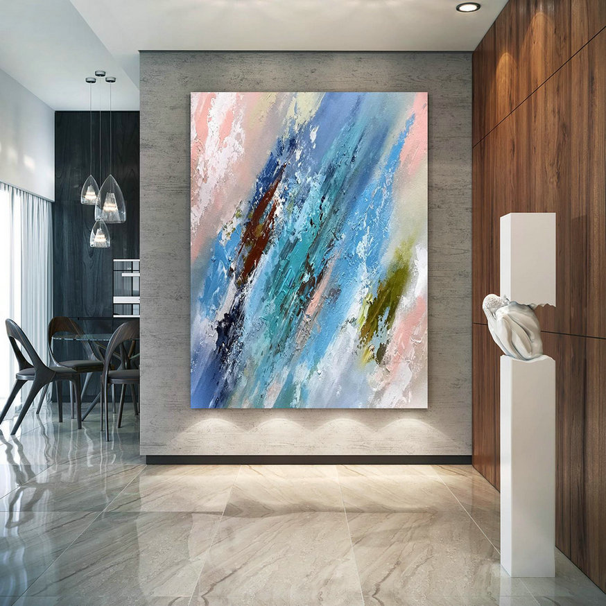 Large Abstract Painting On Canvas,Large Painting On Canvas,Acrylics Paintings,Large Art On Canvas,Industrial Decor D2C031,Big Canvas For Sale