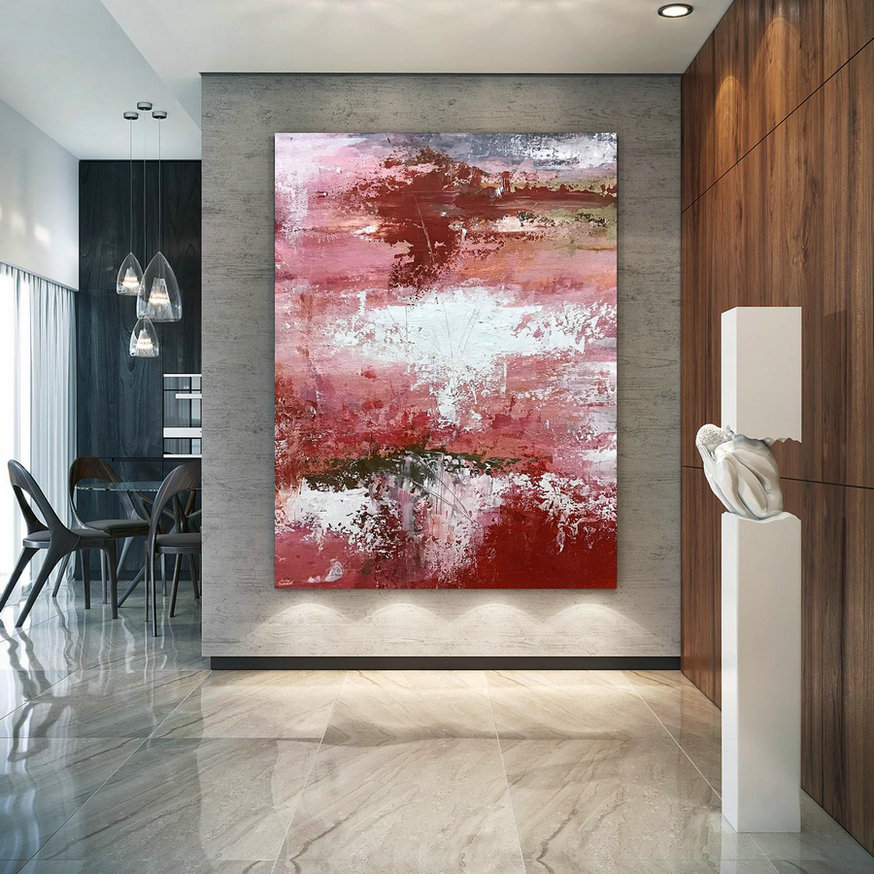 Large Abstract Painting,Modern Abstract Painting,Texture Painting,Modern Oil Canvas,Colorful Abstract,Textured Paintings D2C003,Oversized Gallery Wrapped Canvas
