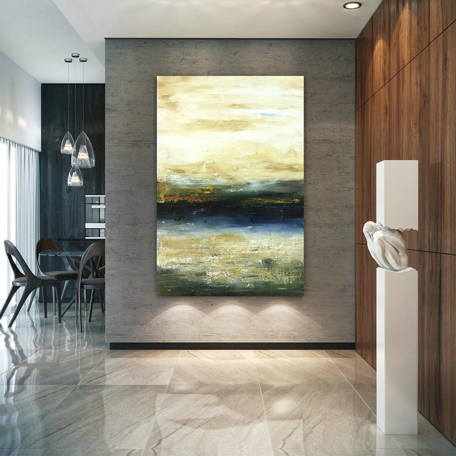 Large Abstract Painting,Modern Abstract Painting,Original Painting,Painting On Canvas,Acrylic Abstract,Textured Painting Bnc108,Large Horizontal Canvas Art - Click Image to Close